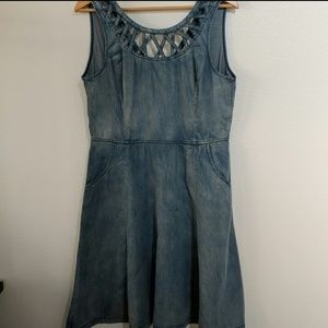 Miss Me Denim Jean Dress Sz Large
